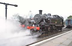 Standard Class 2MT Locomotive at 41312 at North Weald. Epping Ongar Railway Autumn Steam Gala. 01 10 2017 (pnb511) Tags: northwealdstation eppingongarrailway trains heritage railway engine train loco locomotive smoke steam prairie tank 41312