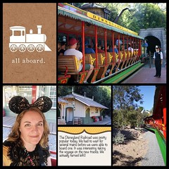 Taking a left on The Disneyland Railroad. #theockeysgotodisneyland #projectmouse #projectlifeapp #memorykeeping #disneyland #disneylandrailroad (girl231t) Tags: ifttt instagram 2017 vacation scrapbook layout 12x12layout projectlifeapp affinityphotoapp