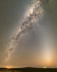 the milky way and zodiacal light (andrew.walker28) Tags: zodiacal light milky way galaxy space dust evanslea queensland australia night sunset