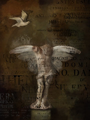 Introspective (jimlaskowicz) Tags: jimlaskowicz poster artistic textures painterly art gallery exhibit impressionistic surreal dark statue wings dove