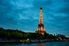 Tour Eiffel (kleptografy) Tags: europe france lightroom paris photoshop structuresarchitecture transportation toureiffel water boat evening monument river timeofday tower travel