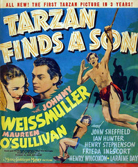 Tarzan Finds a Son (1939, USA) - 03 (kocojim) Tags: maureenosullivan illustrated kocojim movieposter poster johnnyweissmuller advertising illustration film johhnnysheffield motionpicture movie publishing