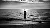 Summer farewell - Calabria, Italy - Black and white photography (Giuseppe Milo (www.pixael.com)) Tags: sun summer beach silhouette calabria woman italy water wave blackandwhite italia farewell sea paola it onsale