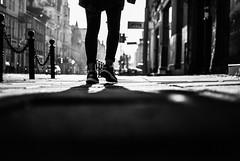 Undercover 14.365 (ewitsoe) Tags: 365 monochrome ewitsoe 14 summer day cloak walking shoes converse girl sidewalk poznan oland jezyce polska nikon d80 35mm street city urban pedestrian blackandwhite