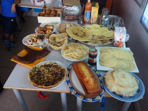 Le petit déjeuner marocains des élèves de la Résidence.