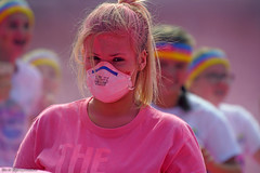 Masked faces (Red Cathedral uses albums) Tags: sony a6000 eventcoverage sonyalpha mirrorless ocr strongmanrun gladiatorrun colourrun mudrun obstaclerun alpha colorrun thecolorrun holi pink pnk roze powder running girlsrunning race brussel brussels bruxelles tour taxis havenlaan miniskirt