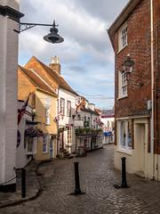 Quay Hill, Lymington (Matthew_Hartley) Tags: quayhill cobbled street lymington hampshire england uk britain panasonic gm1 microfourthirds m43 vario 1232 1232mm