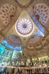 Interior View Of Blue Mosque, Istanbul, Turkey (Feng Wei Photography) Tags: ancient night traveldestinations spirituality landmark eastasia turkeymiddleeast religion famousplace beautiful travel outdoors islamicculture tradition lowangleview islam bluemosque internationallandmark colorimage magnificent dome islamic vertical mosque buildinginterior placeofworship ottoman medieval prayerhall unesco turkish history architecture istanbul turkishculture tourism europe marmara