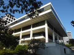 "MGIC ""Inverted Pyramid"" Building - Milwaukee, Wisconsin (Mark 2400) Tags: mgic building doors open milwaukee"