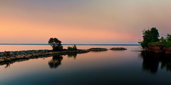 calm dawning (anj_p) Tags: lakeontario dawn morning lake smooth calm shores greatlakes fujifilmxseries