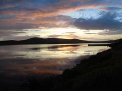Sunset at Kirbister (stuartcroy) Tags: orkney island sunset loch light landscape lake reflection ripples scotland sea scenery sky sony still