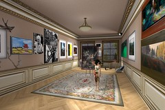 My Room at Domino's Art Gallery (ErikoLeo) Tags: alafolie art exhibition exposition flickrlovers firestorm secondlife secondlife:region=dominolanddominosecondlifeparceldominosartsecondlifex221secondlifey163secondlifez29