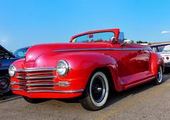 1946? Plymouth Convertible Street Rod (J Wells S) Tags: streetrod hotrod convertible oldschool milfordcruisein milford cincinnati ohio