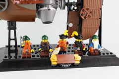 Dwarves (bricks.life.idea) Tags: lego airship skyboat steampunk dwarves