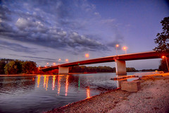 Blue Hour over the Illinois Rt 47 (kendoman26) Tags: hdr nikhdrefexpro2 niksoftware nikon nikond7100 tokinaatx1228prodx tokina tokina1228 bluehour illinoisriver bridge morrisillinois