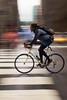 Cyclist, New York City (130598) (John Bald) Tags: manhattan newyorkcity lexigntonavenue 41ststreet cyclist bicyclist rain wet wetpavement wetstreet summer daytime urban city crosswalk panning