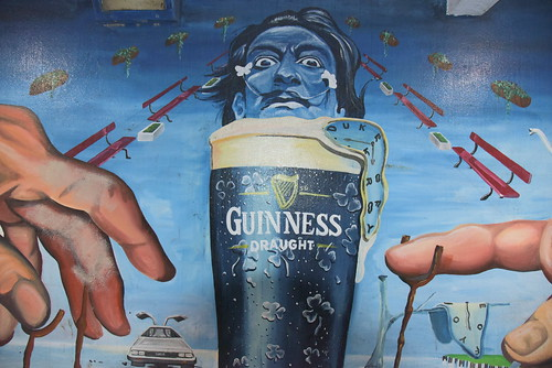 Belfast - Commercial courtyard paintings - Michel Angelo vs Dali vs Guinness