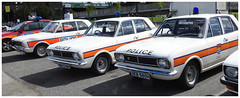 Police Interceptors (The Stig 2009) Tags: police ford lotus cortina 1970 four 4 door ace cafe london vintage classic cars emergency uk