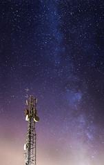 Anybody out there? (Martiruruna) Tags: nocturna night stars estrellas starrynight nocheestrellada antenna antena milkyway víaláctea galacticcore centrogaláctico longexposure largaexposición fresnedillasdelaoliva sierrademadrid madridmountains madrid landscape paisaje sky cielo countryside campo communicationstower torredecomunicaciones