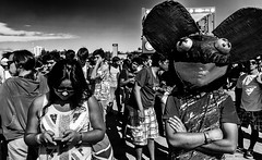 mau5k (negrominay) Tags: santiago chile city urban lollapalooza music festival 2013 bw people gente juventud youth mask deadmau5 mono monochrome monochromatic monocromático blancoynegro canon canoneos7d tokina tokinaatx1116