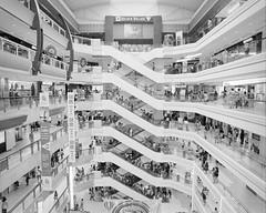 Shopping III (p2-r2) Tags: nikon f3 f3hp singapore kodak trix 400 film blackandwhite street golden village shopping mall escalators nikkor20mmf4