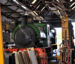 Ring Haw in Tunbridge Wells West Shed (davids pix) Tags: hunslet 1982 1940 ringhaw industrial 060st preserved steam railway locomotive spa valley tunbridge wells west 2017 26082017