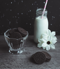 Cookies & Milk (ChicqueeCat) Tags: cookies milk food still life tabletop nikon d3300 40mm macro