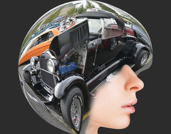 What's On Your Mind (swong95765) Tags: woman helmet brain mind thoughts art car hotrod pretty cute
