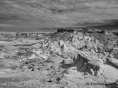 Bisti Badlands-24 (jamesclinich) Tags: bisti badlands danazin wilderness farmington newmexico nm sky clouds landscape desert rock handheld availablelight jamesclinich adobe photoshop topaz denoise detail olympus omd em10 mzuiko1240mmf28pro blackwhite bweffects monochrome