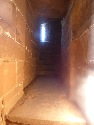 Kenilworth Castle - Strong Tower - to a spiral staircase