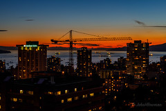 English Bay - Before the Fireworks (John H Bowman) Tags: canada britishcolumbia vancouver cityskylines urban baysinlets englishbay boats ships sunsets afterglow canon24704l