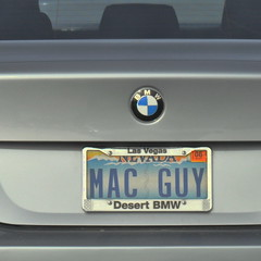 Mac Guy (Veee Man) Tags: gimp nikond5000 lasvegas nevada car silver gray grey bmw bmw525i customlicenseplate macguy apple computers ipad square