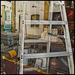 Shop Window 2016 #38; Garden of Earthly Delights (hamsiksa) Tags: storefronts shopwindows windows glass reflections interiors exteriors streetscape smallcity deland florida lays multipleimages photographic cubism color juxtaposition randomness found stilllife abstract abstraction