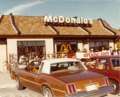 McDonald's - Opening Soon 1978 (Brett Streutker) Tags: restaurant cafe diner eatery food hamburger cheeseburger eat fast macdonalds burger vintage colonel sanders kentucky fried chicken big mac boy french fries pizza ice cream server tip money cash out dining cafeteria court table coffee tea serving steak shake malt pork fresh served desert pie cake spoon fork plate cup drive through car stand hot dog mustard ketchup mayo bun bread counter soda jerk owner dine carry deliver mcdonalds opening soon 1978