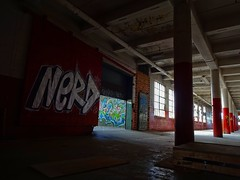 NERD (Trebor420) Tags: chicago illinois abandoned warehouse nerd southside empty graffiti wall paint