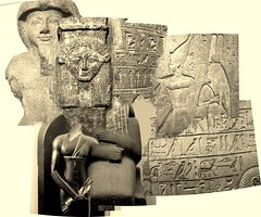 Egyptian and Assyrian (Chris Draper) Tags: egypt egyptian collage assyrian museum britishmuseum carving stone texture archaeology archaeological carved monochrome statue sculpture
