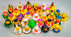 FAMILY REUNION (8436) (jim fleckenstein) Tags: rubber ducks toys collection family rubberduckies display canon eos 70d menagerie crowd trinket bauble plaything float wideangle sigma 24105mm gettogether homecoming surreal