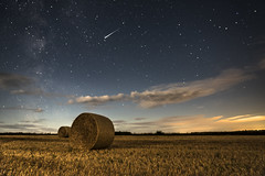 Half the Story. (hov1s@) Tags: meteor perseid milkyway hay bale nikon nikond750 night naturebynikon