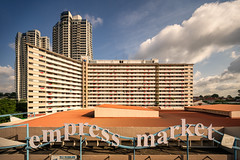 Empress Market Flags (Scintt) Tags: singapore farrer road empress place market condominium condo private property residential estate hdb public housing flats apartments homes houses sky clouds light glow surreal dramatic contrast sony a7rii canon 17mm tse tilt shift buildings architecture city cityscape skyscrapers tall vantage point wideangle scintillation scintt jonchiangphotography skyline dleedon flags nationalday ndp 2017