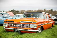 1959 Chevrolet Parkwood Wagon. (dementedb43) Tags: 1959 chevrolet parkwood wagon us usa american muscle america custom low rushmoor arena aldershot 2017