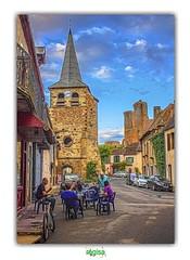 HERISSON (5) (régisa) Tags: hérisson bar café rue street castle château église church allier auvergne clocher saintsauveur