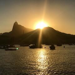 Sunset at Mureta da Urca (alinepcasciano) Tags: sol brasil muretadaurca urca pordosol riodejaneiro sunset