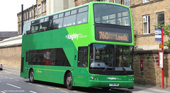 Transdev Keighley Y708 HRN 2708 (WY Bus Spotter) Tags: transdev keighley y708hrn 2708 west yorkshire bus spotter wybs plaxton president volvo b7tl 760 leeds dalton lane museum kbmt two tone green livery comany depot