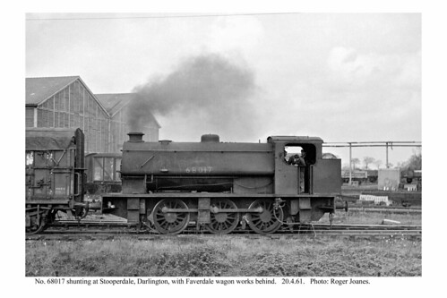 Darlington. No. 68017 shunting. 20.4.61