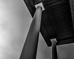 Columns (that_damn_duck) Tags: blackandwhite building structure columns pointofview bw blackwhite