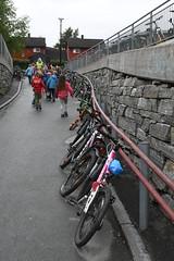 Åpning Bromstadvegen 0504 (Miljøpakken) Tags: miljøpakken miljopakken trondheim skole skolebarn sykling skoleveg sykkelparkering parkering sykkel