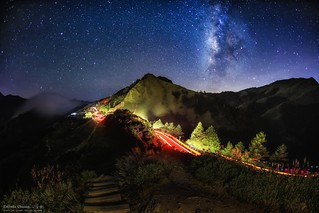 Galaxy  ~ Starry Sky~night-car-trail,Hehuan~合歡銀河車軌