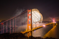 Happy Birthday Baby (Thomas Hawk) Tags: 75thbirthdaygoldengatebridge america batteryspencer california goldengatebridge marin marinheadlands sanfrancisco usa unitedstates unitedstatesofamerica bridge fireworks millvalley us fav10 fav25 fav50 fav100