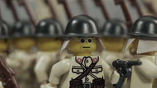 Lego Japanese Soldiers Marching