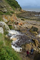 Heyburn Wike (Terry Madeley) Tags: scarborough cloughton heyburnwike coast clevelandway waterfall